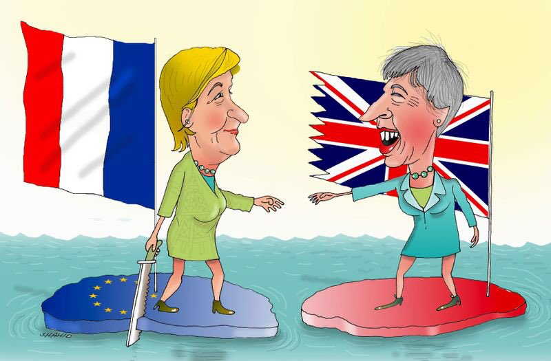 France United Kingdom Relations Toons Mag