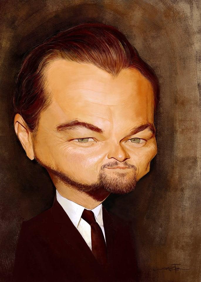 Leonardo DiCaprio, Caricature byAdnane Jabir, Morocco