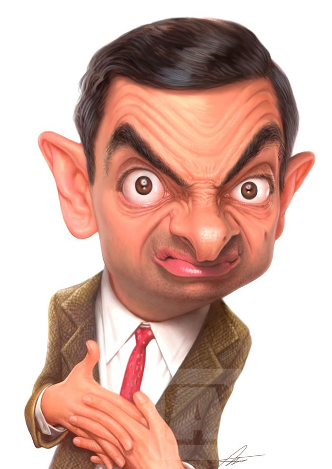 Mr. Bean, Caricature by Angineer Ang, Seoul, South Korea