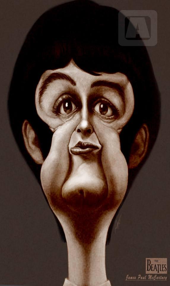 Paul McCartney, Caricature byAngineer Ang,Seoul,SouthKorea