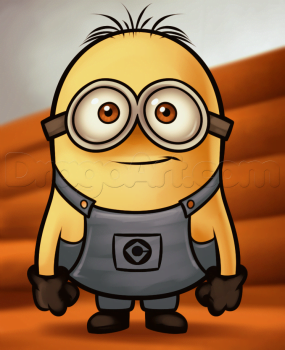 How To Draw A Minion From Despicable Me Grus Minions
