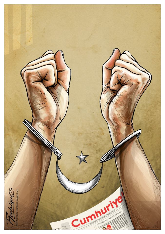 Press Freedom The government of Turkey, through police recently arrested the chief editor of the opposition newspaper