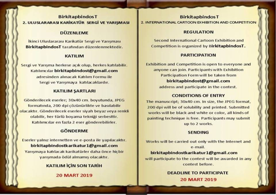 International Cartoon Contest And Exhibition Turkey 2019 Toons Mag