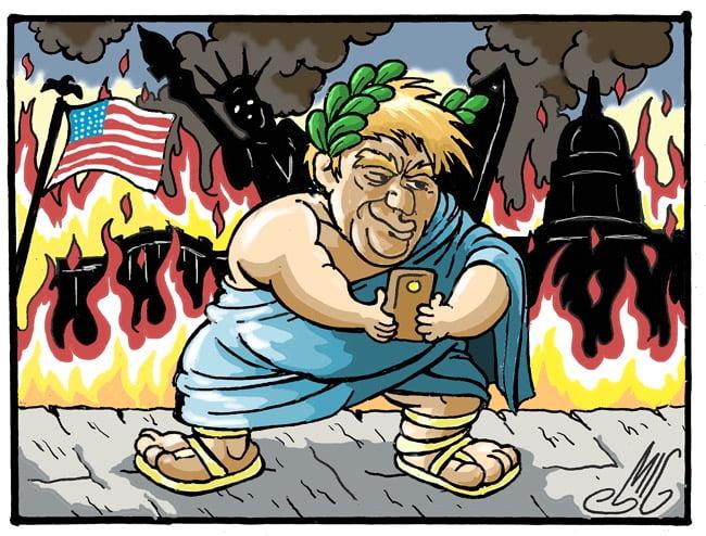 Donald Trump As Nero - Toons Mag