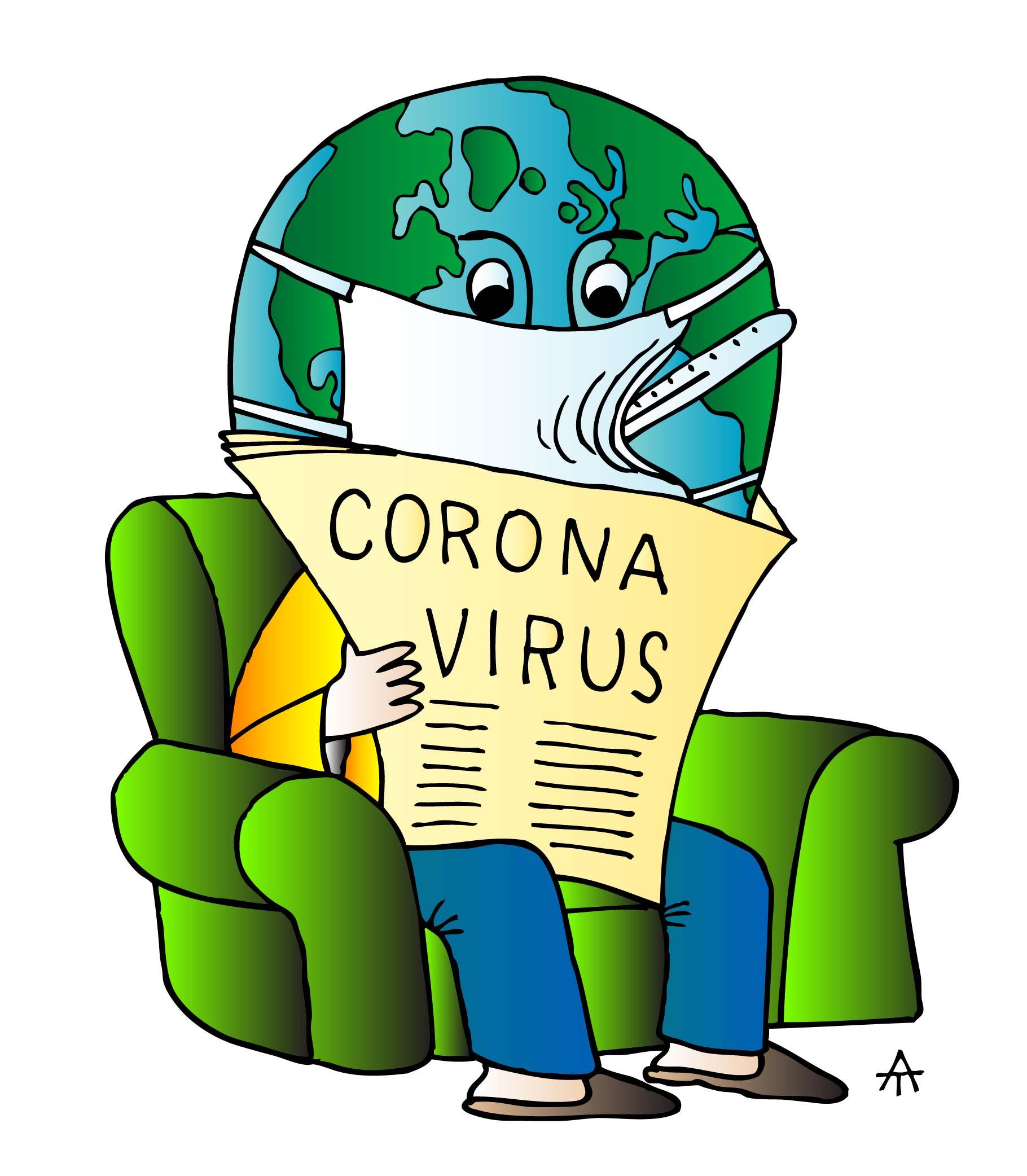 Scared Of Coronavirus - Toons Mag