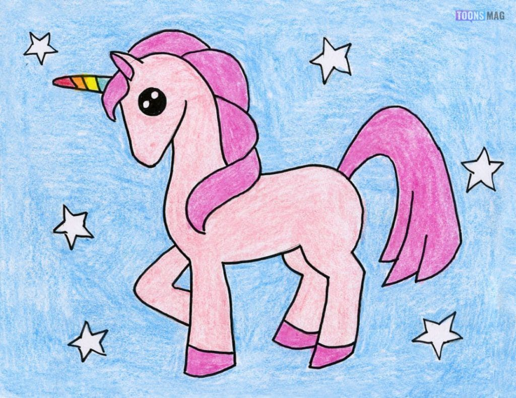 How To Draw A Unicorn Easy Tutorial Toons Mag